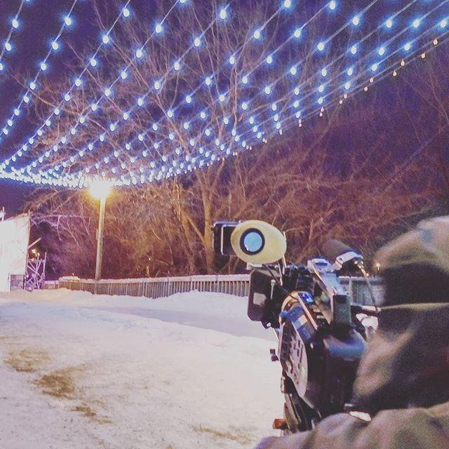 Shooting @rawalmondwpg a couple weeks back on a very frigid Manitoba night. #winnipeg #bts #centricproductions #Manitoba #exploremb
