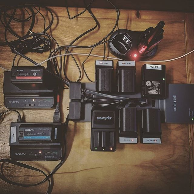 Charge on. #sonyfs7 #gopro #lx100 #rx10ii #sony #morepower #toomanywires