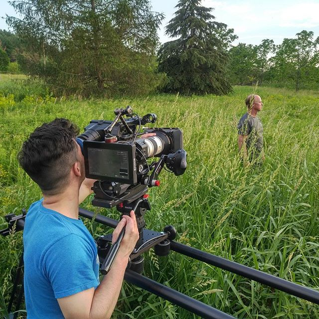 Waste deep in the Marsh for @ducksunlimitedcanada today. . . #conservation #videoproduction #bts #nature #wetlands #rescueourwetlands #video #cinematography